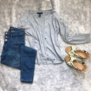 KENDRA SCOTT Button-Down Cardigan, Grey